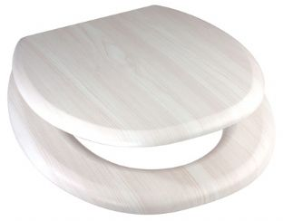 White Ash Effect Toilet Seat